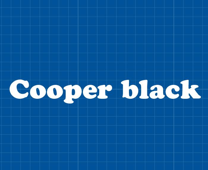 De Cooper black is speciaal ontworpen voor signs