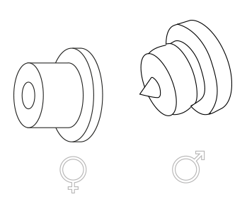 afstandhouders-mannetje-vrouwtje